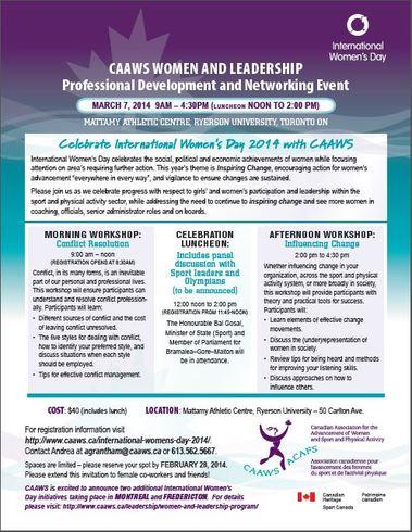 CAAWS International Women's Day 2
